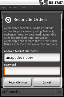 Appmonger Order Reconciliation