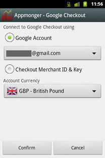 Appmonger Google Checkout Credentials